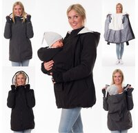 3in1 Tragejacke Umstandsjacke Softshelljacke Winter...