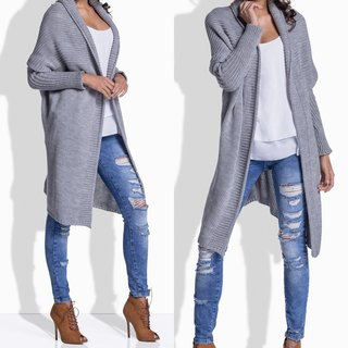 Damen Strickjacke Lang