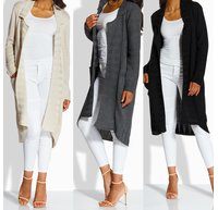 Damen Strickjacke Lang 86