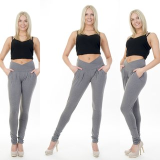 Damen Treggings Stretch Jogginghose Sporthose Fitness Sport Trainingshose Haremshosen